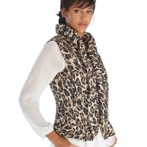 WHBM Animal Print Puffer Vest Out of Stock MP NEW